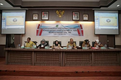 Dinas P3APM Bentuk Kepengurusan FK PUSPA 2019-2024